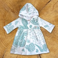 Teal Paisley Tunic Dress - 1