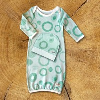 Circles NB Pajama Set / Aqua - 1