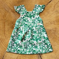 Green Leaves Delantal Dress - 1
